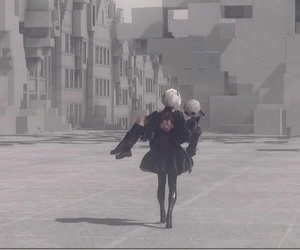 2b, nier, and 9s image