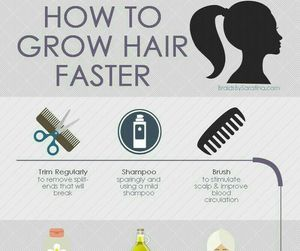 how to and grow hair faster image