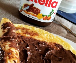 nutella, crepes, and yummy image