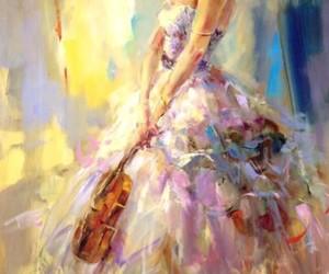 art, violin, and music image
