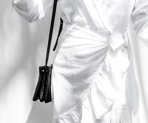 black and white, clothing, and details image