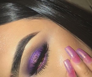 beautiful, eyebrows, and highlight image