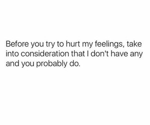 feelings, quote, and hurt image