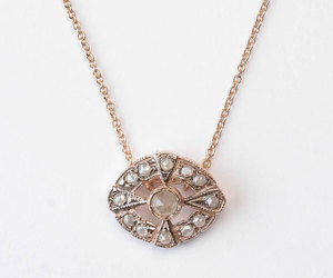 etsy, vintage style, and 14k gold pendant image