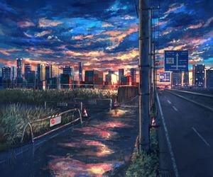 anime, anime night, and anime landscape image