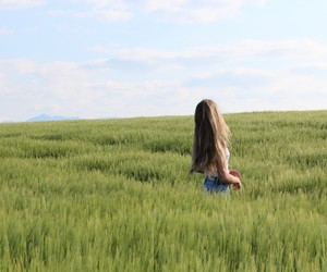 blonde, girl, and nature image
