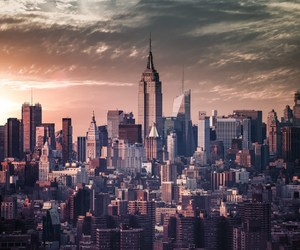 city, new york, and skyline image