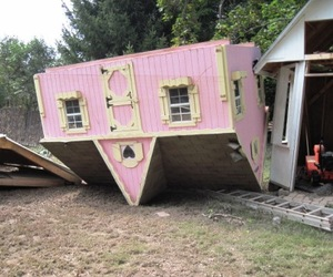 pink, grunge, and house image