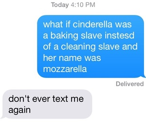 funny, cinderella, and text image