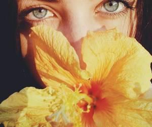flowers, beautiful, and eyes image