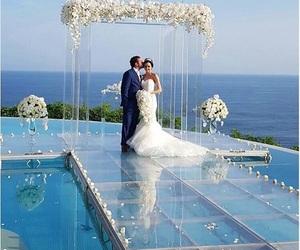 beach, summer, and beach wedding image
