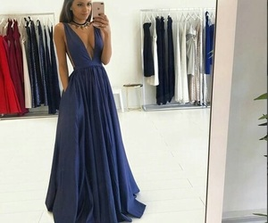 dress, blue, and evening dress image