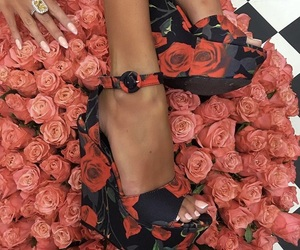 classy, roses, and shoes image