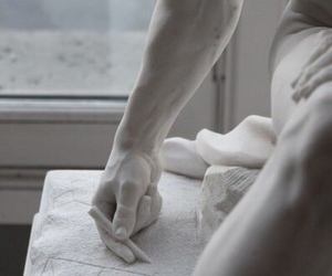 arm, pale, and statue image