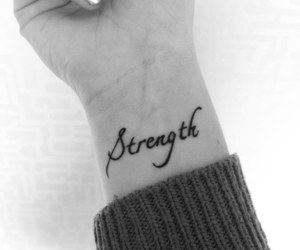 tattoo, strength, and wrist image