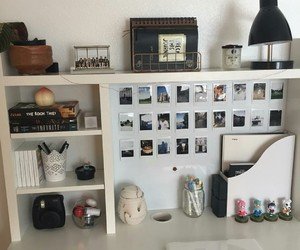 desk, ikea, and journal image