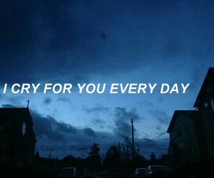 aesthetic, blue, and cry image