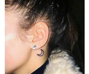 tattoo, moon, and earrings image