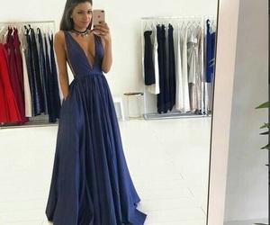 dress, blue, and evening dress image