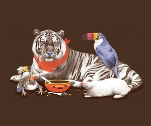 animals, cereal, and illustration image