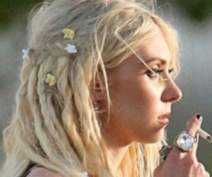 beauty, blond hair, and music image