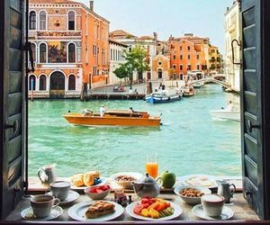 travel, venice, and breakfast image