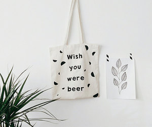 tote bag and beer lover image