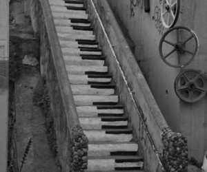 foreign, stairs, and piano stairs image