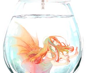 girl, anime, and water image