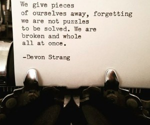 broken, puzzles, and forgetting image