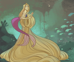 mermaid and rapunzel image