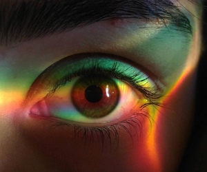rainbow and eyes image