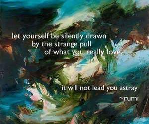 quote and Rumi image