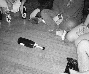 party, friends, and grunge image