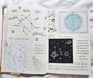 journal, art, and stars image
