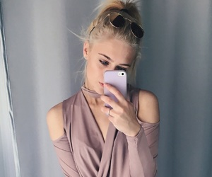 blonde hair, case, and eyebrows image