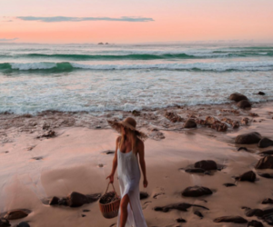 sea, girl, and nature image