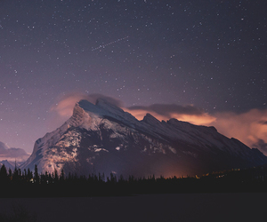sky, stars, and mountains image