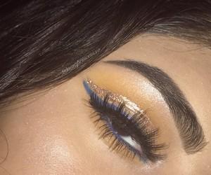 dress, eye shadow, and makeup goals image