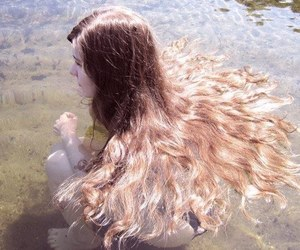 girl, water, and haïr image