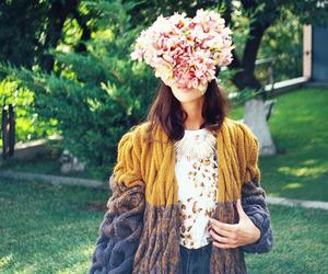 flowers, girl, and minimalist image