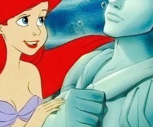 background, the little mermaid, and love image