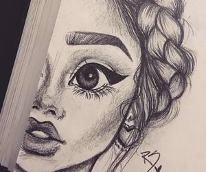 chicas, dibujos a lápiz, and dibujos image