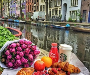 breakfast, travel, and amsterdam image