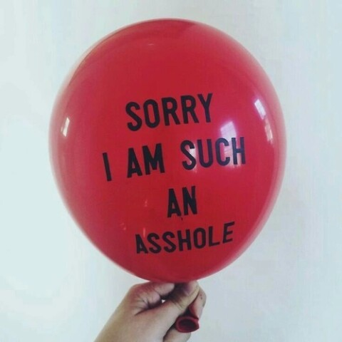red, balloons, and asshole image