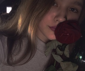girls, heart, and rose image
