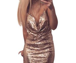party dress, sequin dress, and dress image