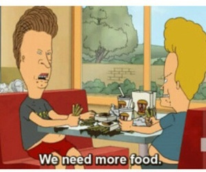 food, beavis and butthead, and gif image