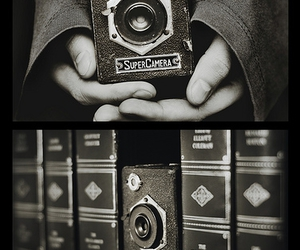 antique, black and white, and hands image