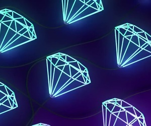 aesthetic, neon signs, and diamonds image